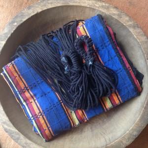 ブラジリアンハンモック(ワイドサイズ親子用)マルチカラー青