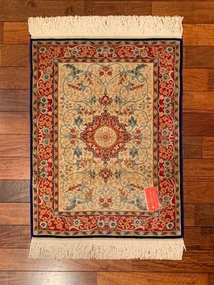 トルコシルク絨毯【HSJ-1303-01892-P】