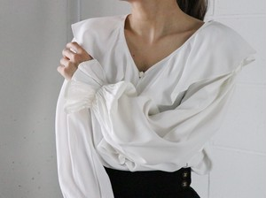 80's white blouse