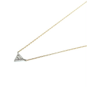 G_Pyramid Necklace_Dia - Pt900,K18YG,Dia