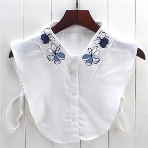 大人気♡つけ襟‼︎刺繍フラワー