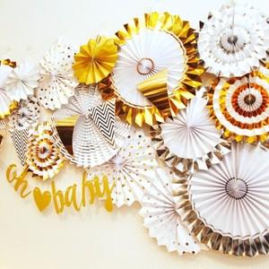 【ペーパーファン】ベビーシャワー ホームパーティー 結婚式 誕生日 飾り付け 壁装飾
