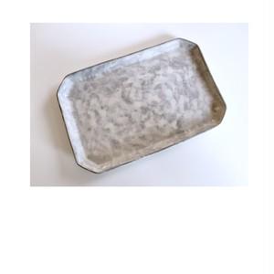 いにま陶房 薄白化粧角プレート