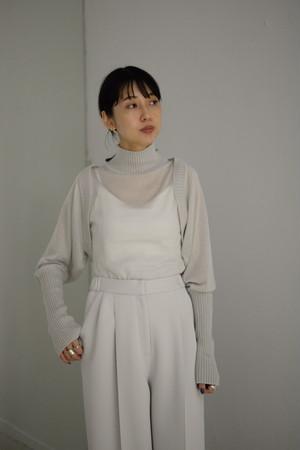 【予約商品】ROOM211 / Detachable Bodysuit knit (light gray)