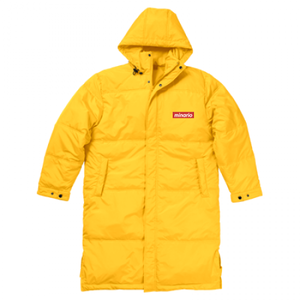 minario / BOX LOGO BENCH COAT YELLOW