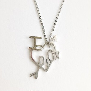 """Dior"" heart necklace[n-239]"