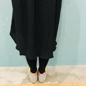 091685a4263b9 キッズ 遠州織物ネップミックス×ワッシャー コンビシャツワンピース Black