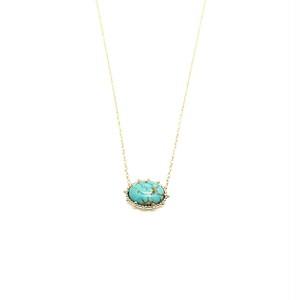 Granulation 8×6 gem Necklac - Turquoise