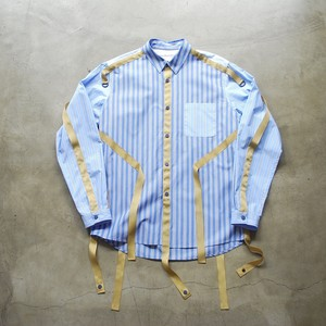 White Mountaineering STRAPED BROAD TAPED SHIRT