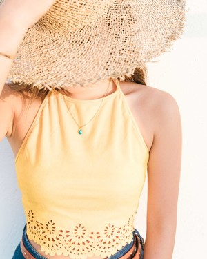 Suede Tops Sunny Yellow
