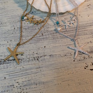 STARFISH 2line Necklace(PS0382-N)