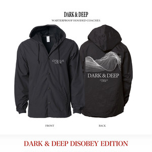 Dark & Deep Waterproof Hooded Coaches / Black