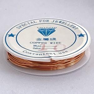 銅製ワイヤー ブロンズ  1.0mm /1ロール2.5M