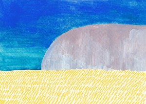 ポストカード_岩と風景