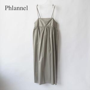 Phlannel/フランネル・High Count Yarn Twill Cloth Camisole Dress