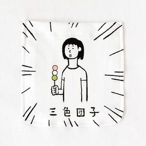 三色団子・少女 ポケット付Tシャツ