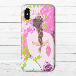 #000-175 iPhoneケース スマホケース 人気 女子 花柄 春 おしゃれ タイトル:スプリング ウェディング Xperia エクスペリア ケース