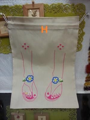 [SALE 50%OFF]ベトナム雑貨PhiPhi・お土産・アジアンハンドメイド・刺繍巾着袋(大)