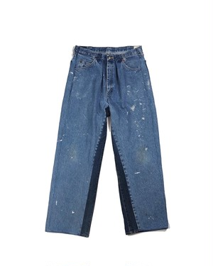 remake wide denim pants (navy)