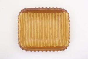 湯町窯 スリップウェア 角大皿