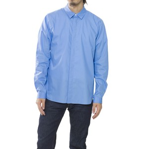 BROAD FLY FRONT SHIRT - BLUE