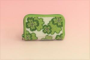 ビーズ刺繍 財布 (#99 クローバー)