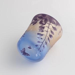 藤の花 & 蝶のグラス
