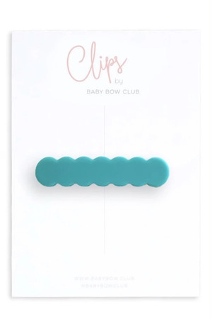 BABY BOW CLUB Scallop Clip // Jade