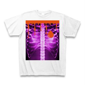 ASH DROP ボーンドロッププリントTシャツ BLOOD(パープル)