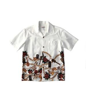 Mountain レディース&ボーイズ オープンアロハシャツ / TIKI&HULA GIRLS / size XXS  残り1枚