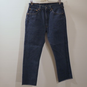 "Tapered fringe denim ""Blue"" W31"
