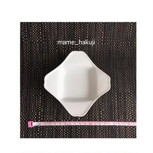 有田焼高級白磁 銘銘皿 4つのピラピラ豆皿