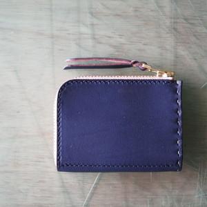 L字ファスナーの小型財布 / ネイビー