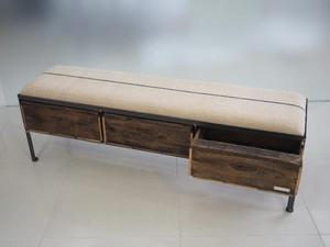 品番UES3-103  3drawer ottoman[nerrow/European grain sacks]