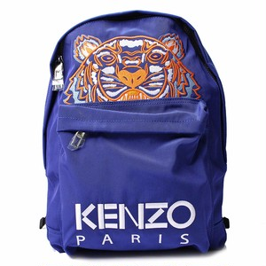 ケンゾー (KENZO) メンズ バッグ バックパック RUCKSACK リュック ブルー オレンジ タイガー ロゴ Tiger[全国送料無料] r014690