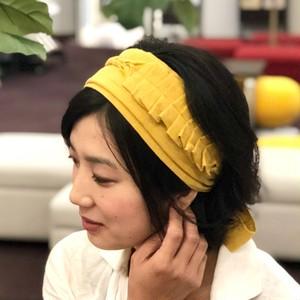 【ミモザ◆タックフリル】心地よくフィットするヘアバンド
