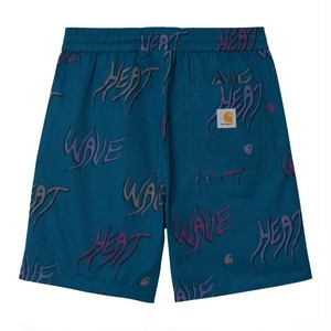【Carhartt WIP】 HEAT WAVE SHORT - Heat Wave Print, Shore カーハート ショーツ 短パン