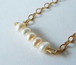 ◇fresh pearl◇14kgf「spray」ネックレス