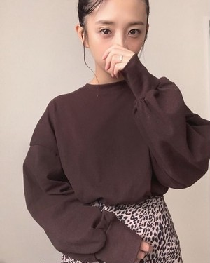 【ご予約】puff sleeve sweat(for mom)