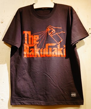 The RAKUGAKI Father Logo T-Shirts Black × Red