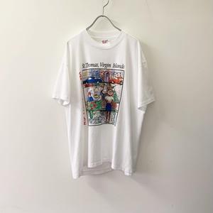CARIBBEAN MARKETPLACE Tシャツ size L USA製 メンズ 古着