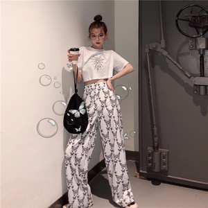 【セット】「単品注文」流行り人気ストリート系Tシャツ+カジュアルパンツ21294862