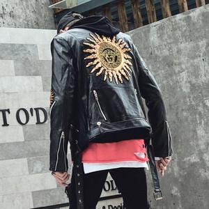 レザージャケット メンズ 革ジャン 革ジャケット ライダースジャケット ブルゾン ジャンパー  レザーコート フェイクレザー 黒レディース メンズ1901