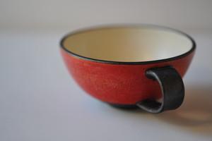 0398 沖誠 赤 スープカップ