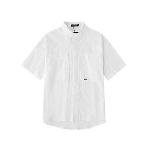 半袖シャツ無地のオーバーサイズシンプルコーデ2色ユニセックス送料無料