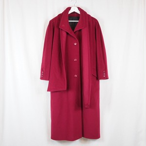 Cashmere Wool Design Coat attached stole