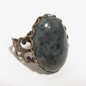 天然石リング 大ぶりアゲート(瑪瑙)の石のリング フリーサイズ 4994R