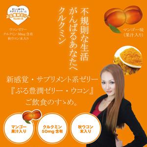 ぷる豊潤ゼリー ウコン マンゴー果汁入(50包入)