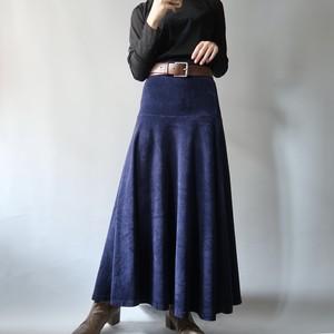 Velours flare skirt