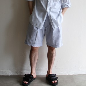 is-ness【 mens 】stripe short pants